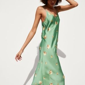 Zara Green Floral Print Dress - weworewhat
